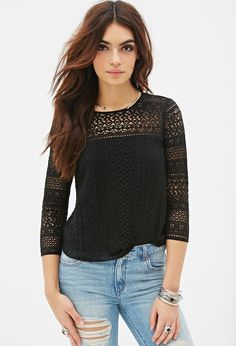 Boxy Crochet Top | FOREVER21 - 2000082720