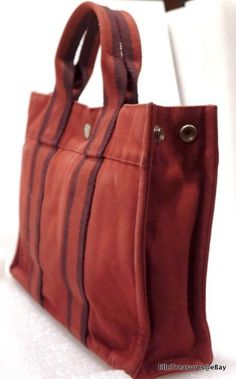 a67c9662c506 Auth HERMES Fourre Tout Foldable Garden Carrier Travel Shopper Tote Bag  Handbag #
