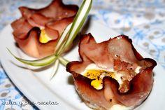 Tapa de jamon y huevos de codorniz