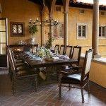 AICO Furniture - Bella Cera 7 Piece Rectangular Dining Table Set - 38002-7SET