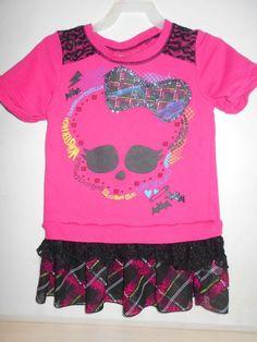 Pink Monster High Character Dress Comfortable Wear SIZE 7/8 Little Girl's Dress #MonsterHigh #Casual #Everyday