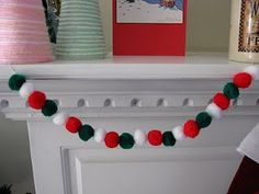 Pompom Garland Tutorial By Melissa of Crafting With Cat Hair Blog