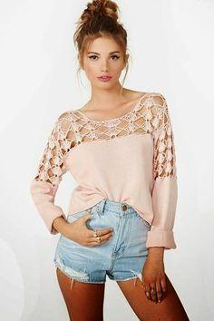 Crochetemoda: Crochet - Blusas