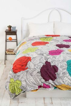 Coloring Book Floral Duvet Cover: $78