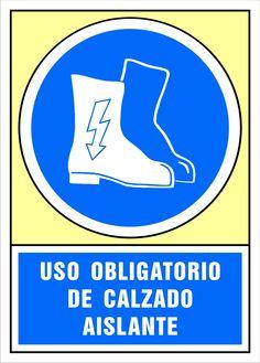 Señal uso obligatorio de calzado aislante