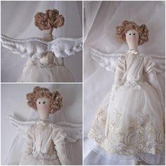 Tilda doll/ Tilda angel/ Tilda/ Wings/ Textile art/ Fabric doll/ Angel rug doll/ Angel doll/Angel tilda/ Home decor