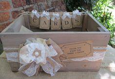 Wedding Cards Vintage wash bushel apple crate Wedding Card Holder Post Box A…
