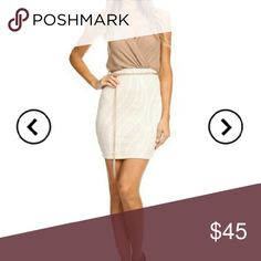 Short Dress Description:?Print, sleeveless short dress in a body-con style with a v-neck and a racerback.  Available in color Nude Sizes: S M L XL Dresses Mini