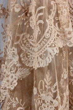 Extraordinary Lace need not be perfect to drape in a window....Vintageblessings
