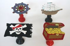 adorable and easy cupcake stands using a prepainted wooden piece and candlestick wood