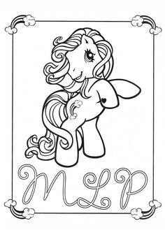 My Little Pony coloring page MLP - Rainbow Dash