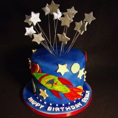 Rocket Ship Cake - Square | Flickr - Photo Sharing! (Stars)