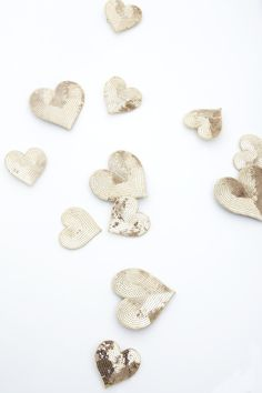 Glitter hearts //Manbo