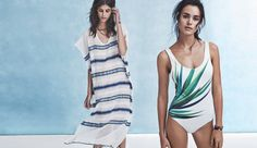 Model wears One-Piece Swimsuit for beachwear looksbook Photoshoot