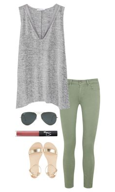 """olive jeans"" by helenhudson1 ❤ liked on Polyvore featuring mode, Paige Denim, Zara, NARS Cosmetics et Ray-Ban"