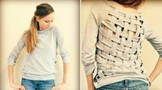Upcycle old clothes repurpose sweater creative diy craft
