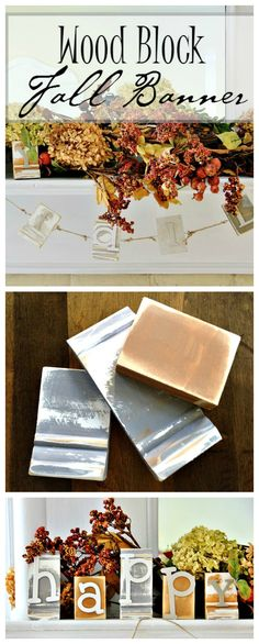 Thistlewood DIY project wood block fall banner
