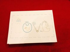 Baby Love for a baby boy by Sew Cute Cards www.facebook.com/sewcutecards  http://sewcute.storenvy.com