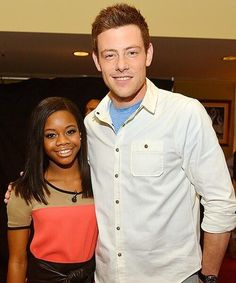 Twitter / Lea_CoryForever: (New Photo) Cory Monteith with Gabby Douglas