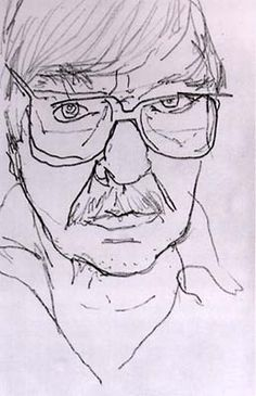 Richard Diebenkorn : self portrait. Had to check the source on this one, so rare to see a Diebenkorn where background and figure aren't one unified plane.