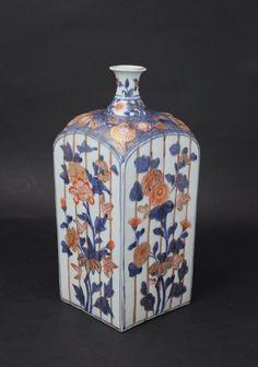 Japan Genroku Period 1700's Imari Tokkuri Sake Bottle Japan / Japanese Antiques / Japanese Art : More At FOSTERGINGER @ Pinterest️