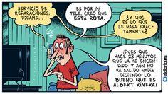 vino y girasoles: Humor político.