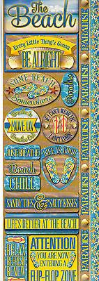 Reminisce BEACH COMBO Cardstock Stickers scrapbooking PARADISE SAND FLIP-FLOPS