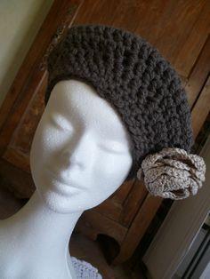 Bonnet Crochet, Crochet Beret, Freeform Crochet, Crochet Chart, Diy Crochet, Crochet Patterns, Hat Patterns, Loom Knitting, Free Knitting