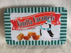 Route 29 Caramels and Sweets Penguin Tin Storage Trinket Box Collector's Item