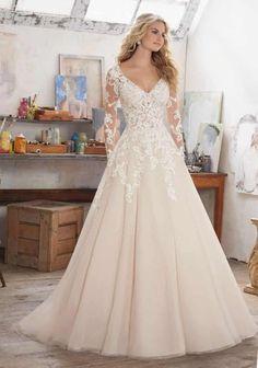Vestidos de novia con encaje, para las novias más románticas.