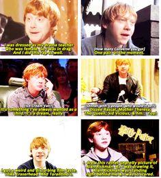 rupert grint << lol I love him so much