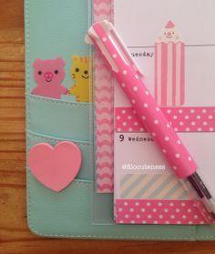Filo Cuteness: Pink & Mint Polka Dots in My kikki.K Planner!