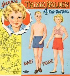 1956 Trixie Belden PAPER DOLLS BY Whitman REPRODUCTION  2 of 8