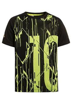 adidas Performance - MESSI - T-shirts print - black/semi solar slime