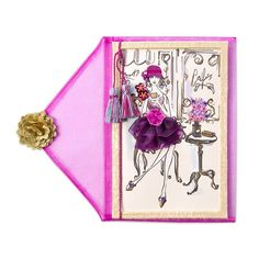 Mademoiselle+Brigitte+Price+$28.00 Papyrus Cards, Wood Drawers, Friendship Cards, Unique Cards, Letter Writing, Embellishments, Lettering, Envelope, Fabric