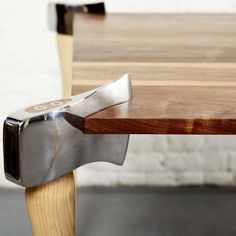 #axe legged #table Fancy - Woodsman Axe Coffee Table