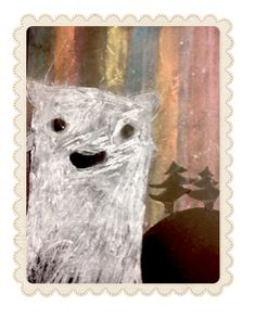 Ours polaire et aurore boréale