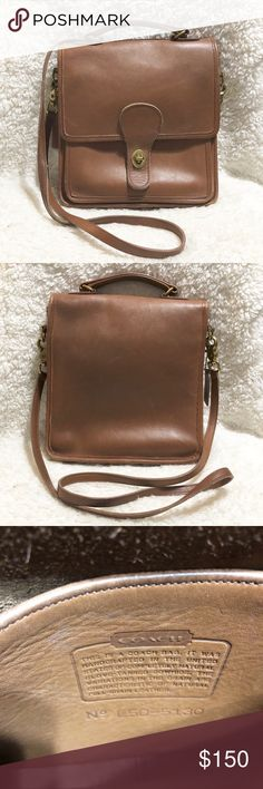 "Rare Vintage Bonnie Cashin Whiskey Leather Bag Excellent used condition. Measurements are approximately 9""width, 10"" tall, 2"" deep with a 22"" handle drop. Coach Bags Crossbody Bags"