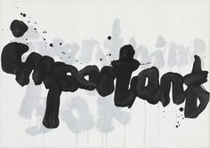 Yang Jiechang, Important, 2014, Ink and acrylic on canvas, 48 x 68 cm | 18.9 x 26.77 in, # YANG0019