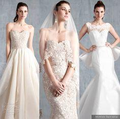 Our top editor's picks from Modern Trousseau Spring 2015 #Wedding Dress Collection. #weddingdresses #weddings #bridal More at: http://www.weddinginspirasi.com/2014/04/16/modern-trousseau-spring-2015-wedding-dresses/
