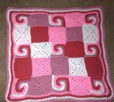spiral crochet baby blanket  ready to ship by annalula on Etsy,