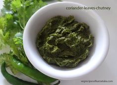 Coriander leaves dry chutney recipe without coconut explained with step by step pictures. This chutney is prepared using coriander leaves, green chili, tamarind and salt.