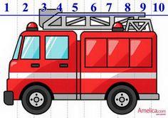 Cartoon Fire Truck With Fireman Clipart Fireman Party, Fireman Sam, Ambulance, Fire Truck Craft, Truck Crafts, Firefighter Birthday, Transportation Theme, Cute Clipart, Clipart Images