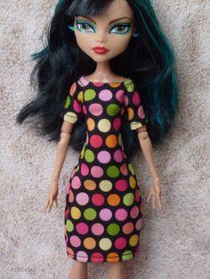 Dress for Monster High doll por Kosucas en Etsy, €6.00
