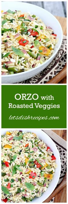 Orzo with Roasted Vegetables Recipe