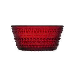 iittala Kastehelmi Bowl 9 oz Cranberry Red Glass, Planter Pots, Stuff To Buy, Color, Shopping, Table, Design, Colour, Mesas
