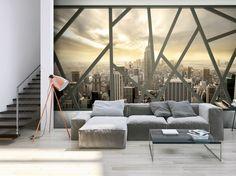 Wand Mit Fototapete Gestalten Für Eine Optische Vergrößerung Des Raums