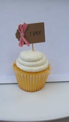 I Do Cupcake Toppers Wedding Cupcake Picks by thefavorstation