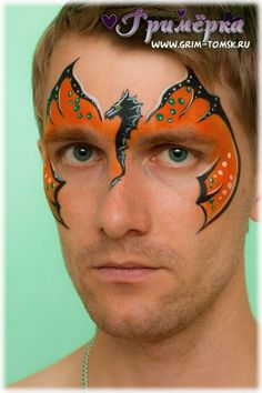 Аквагрим, грим, дракон face painting, make-up, dragon