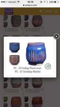 Glaze used on Mrs. Alejandro's pencil cup